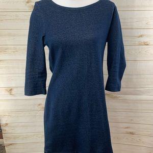 Old Navy Blue Indigo 3/4 length sleeve shirt dress
